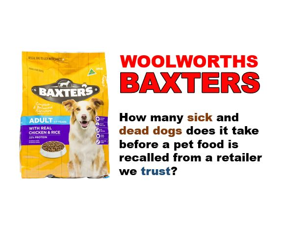 ce9839176a3 Woolworths Baxters – Sick/Deceased Dog Reports : Pet Food Reviews  (Australia)