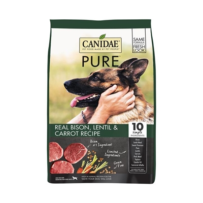CANIDAE PURE Land Grain Free Formula with Fresh Bison Dry Dog Food 4.5kg