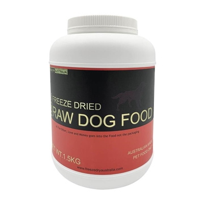 Freeze Dry Australia Freeze Dried Grain Free Raw Dog Food - 1.5kg