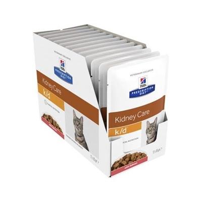 Hill's Prescription Diet K/d Kidney Care Salmon Feline Wet Pouch 12x85g
