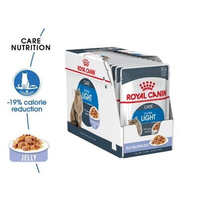 Royal Canin Feline Ultra Light Care Cat Food In Jelly 85g 12 Pack