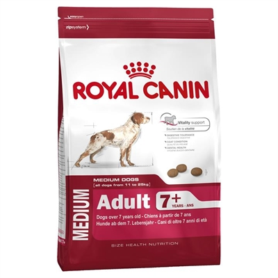 Royal Canin Medium Adult +7 Dog Food - 15Kg