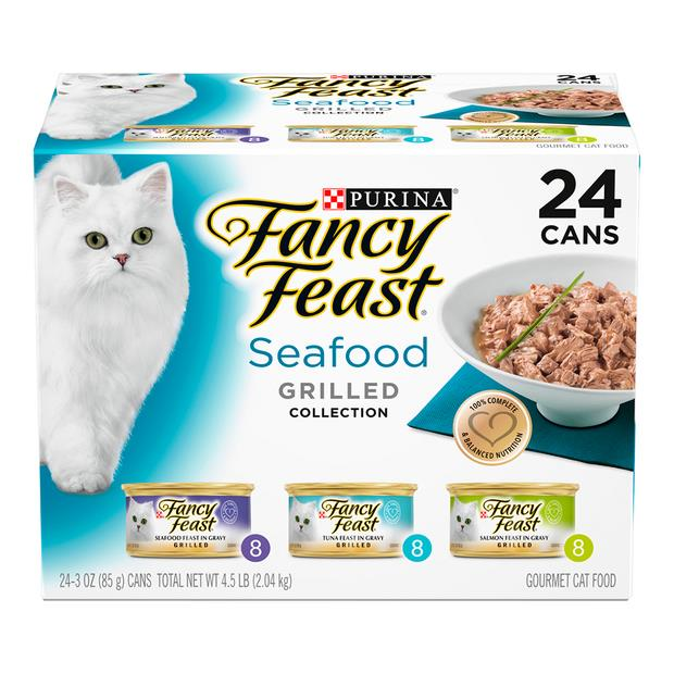 Fancy Feast Variety Pack Seafood Grilled Wet Cat Food 24 X 85g