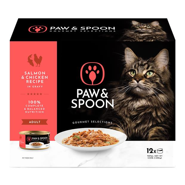 Paw And Spoon Salmon And Chicken Wet Cat Food 2 X 12 X 85g