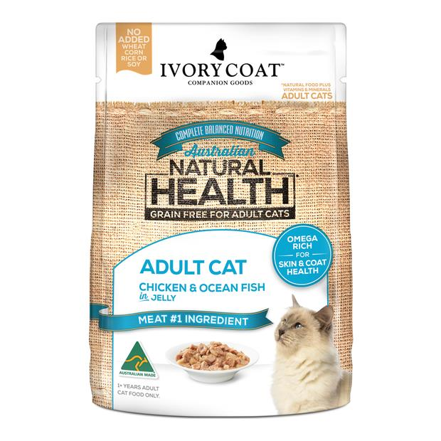 Ivory Coat Grain Free Wet Cat Food Adult Chicken Fish Jelly 12 X 85g