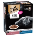Dine Fish Selection Saucy Morsels Salmon And Tuna Mornay Cheese Wet Cat Food 3 X 14 X 85g