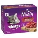 Whiskas Wet Cat Food Adult So Meaty Meat Cuts Gravy 12 X 85g